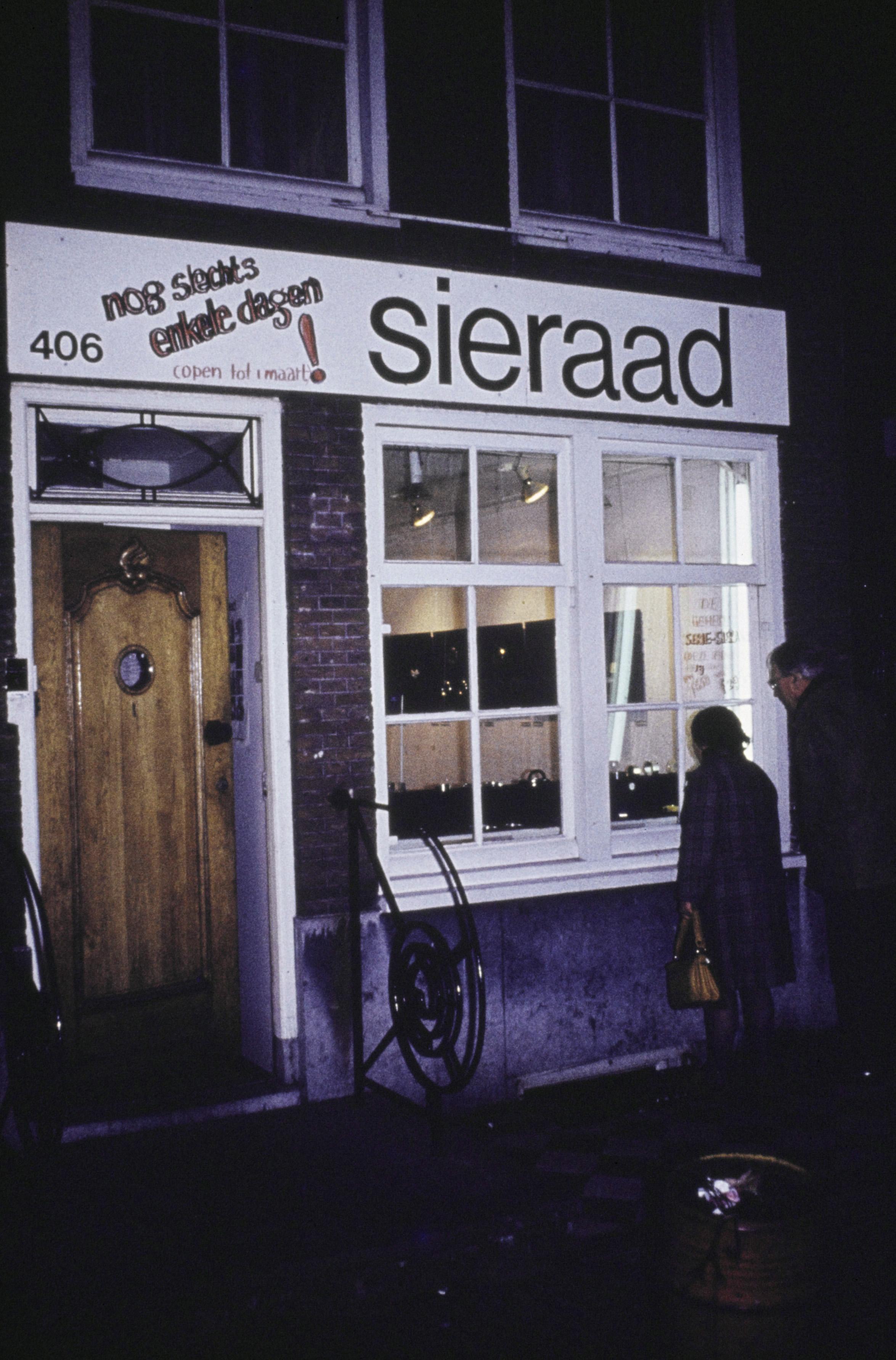 Galerie Sieraad, Singel 406, gevel