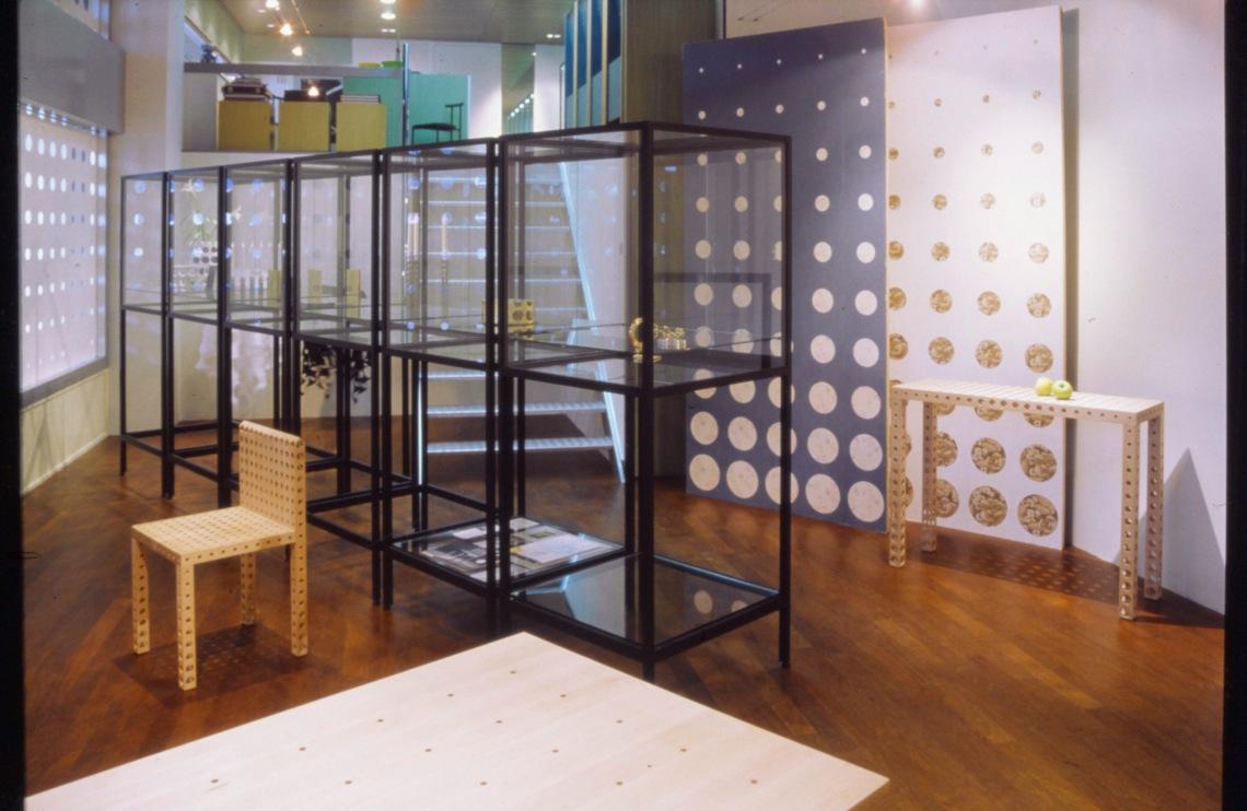 Gijs Bakker, The holes project, jewellery, objects, furniture, 1993, Galerie Ra (Vijzelstraat) Amsterdam