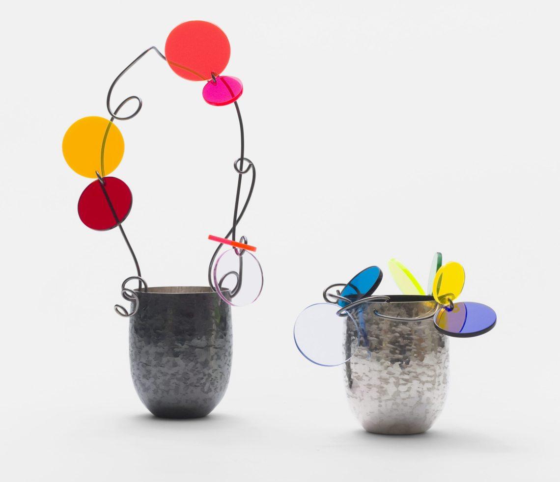 Paul Derrez, Confettivessels , Nederlands Zilvermuseum Schoonhoven. Foto met dank aan Galerie Ra©