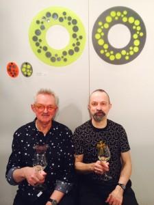 Willem Hoogstede en Paul Derrez (winnaar Herbert Hofmann-Preis) op Schmuck te München, 2015. Foto met dank aan Michael Collins, Chrome Yellow Books©