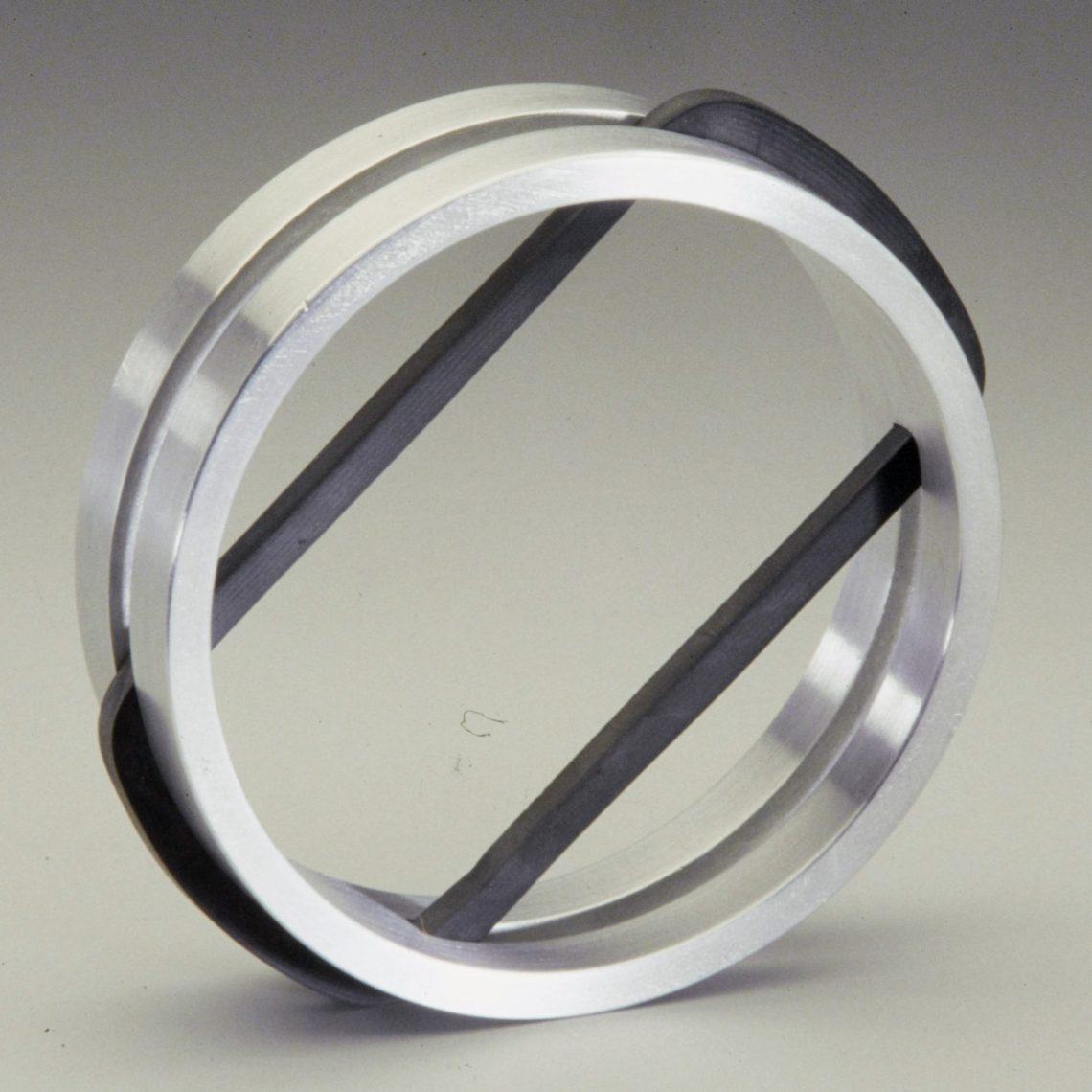 Hans Appenzeller, armband van aluminium en rubber, 1971