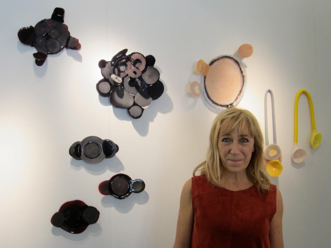 Ela Bauer in Galerie Ra, 2 juli 2016. Foto met dank aan M.O.©
