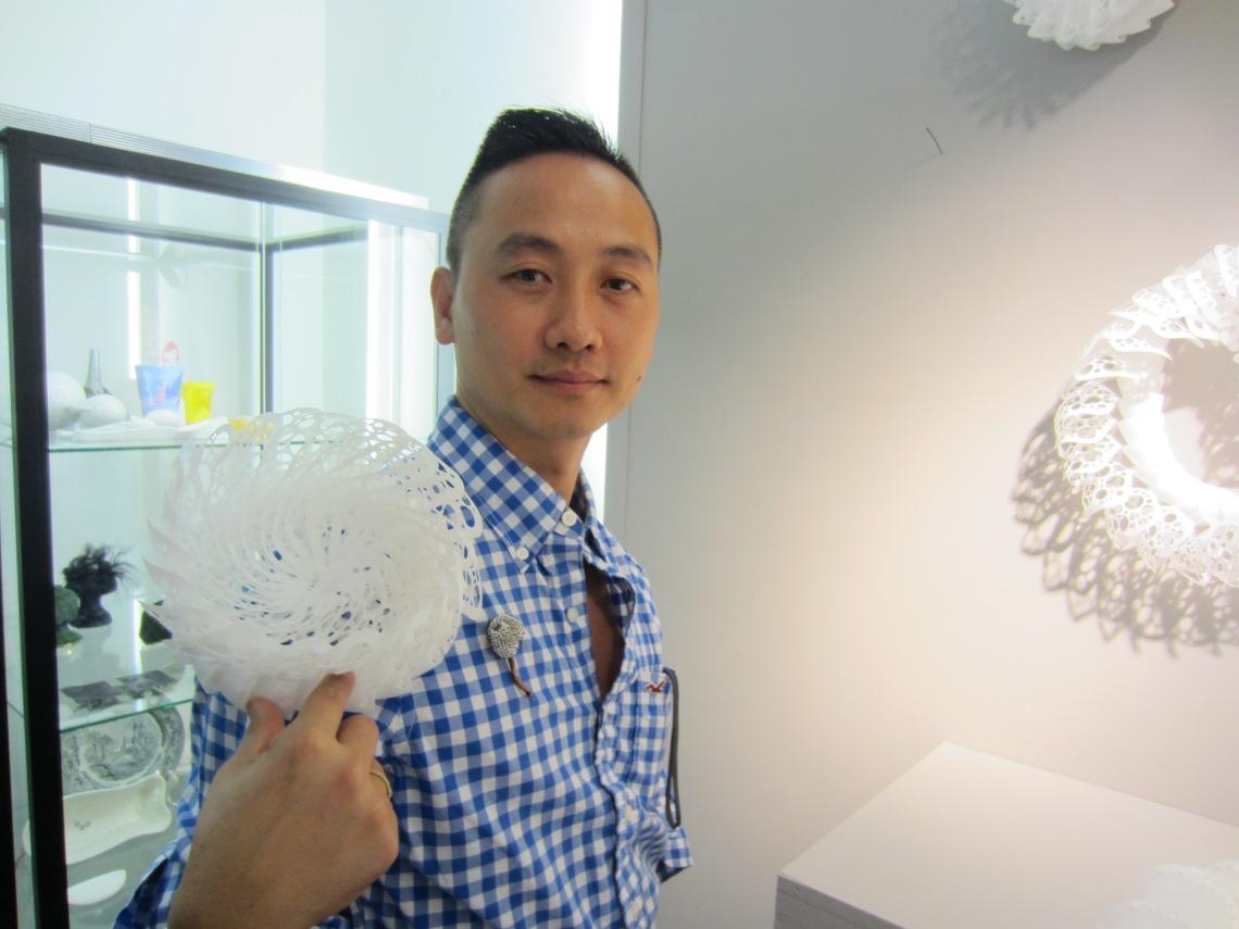 Sam-Tho Duong in Galerie Ra, 2012. Foto met dank aan M.O.©