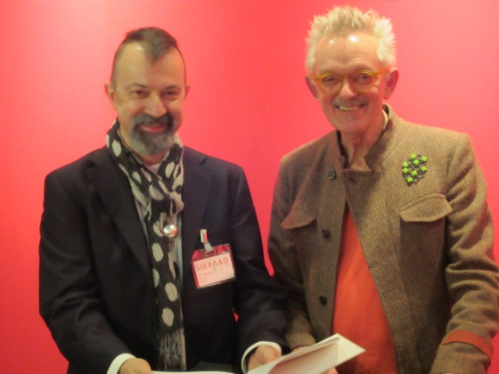 Paul Derrez en Willem Hoogstede op Ra Books, Sieraad Art Fair, 2012. Foto met dank aan M.O.©