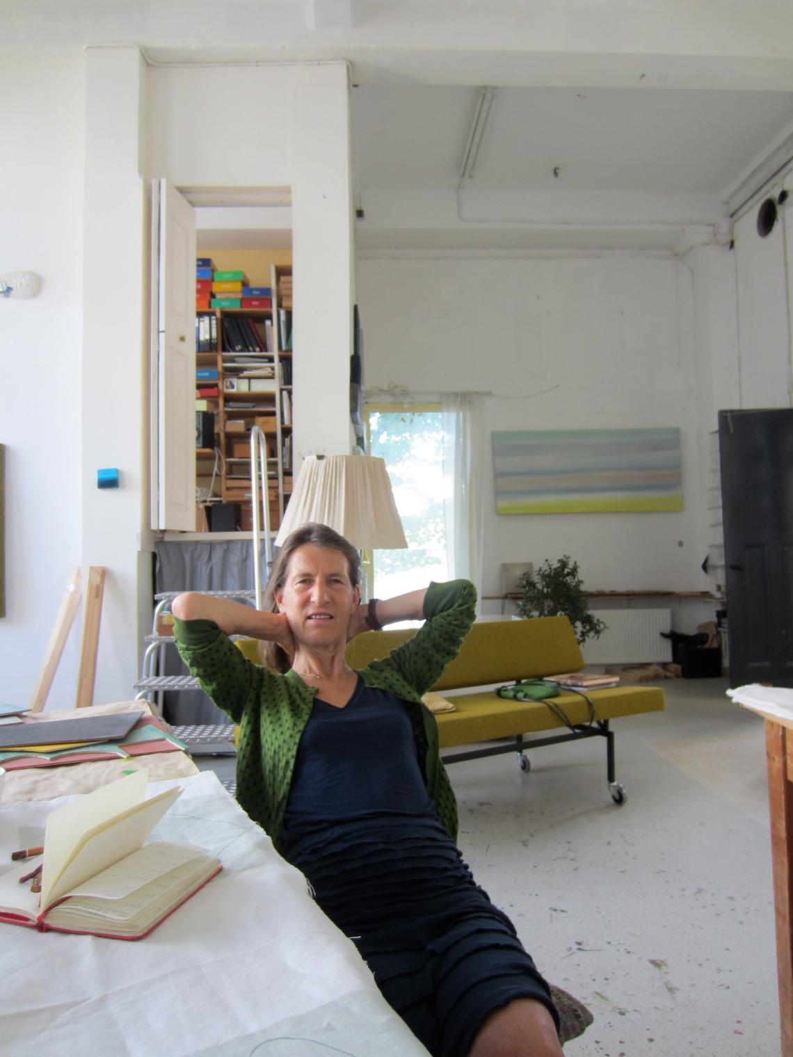 Beppe Kessler in haar atelier. Foto met dank aan M.O.©