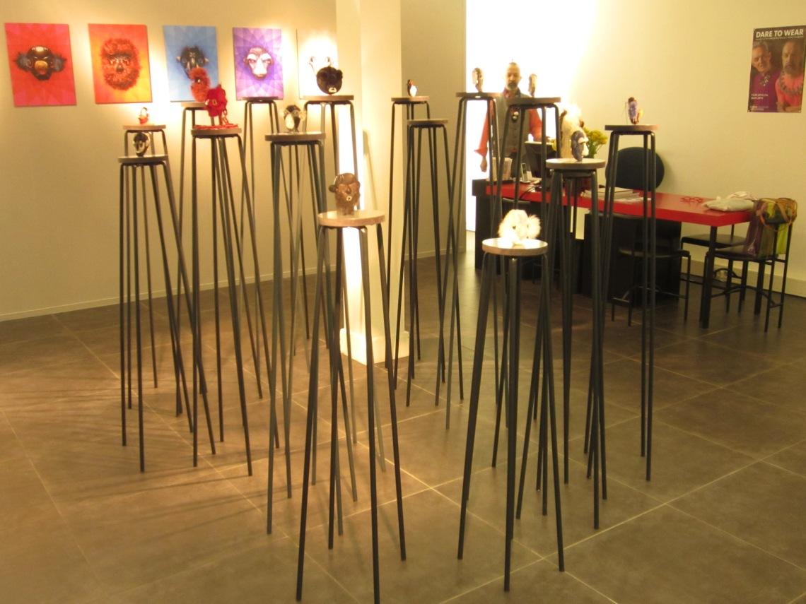 Noon Passama, Portraits, in Galerie Ra, 2013. Foto met dank aan M.O.©