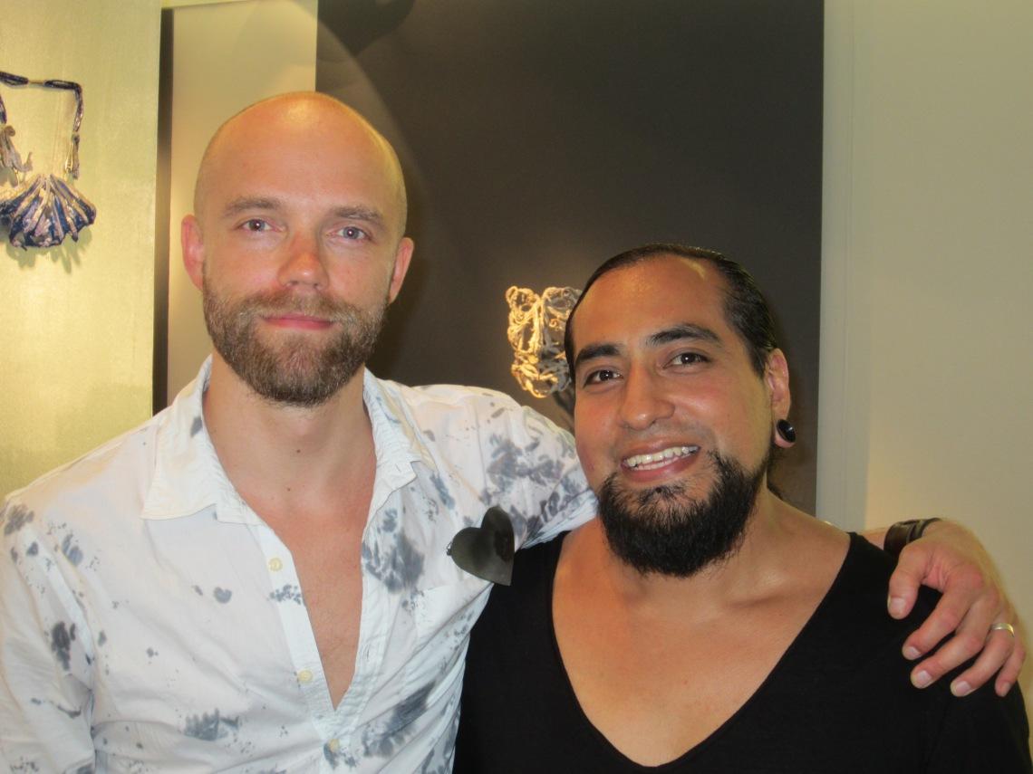 Tanel Veenre en Jorge Manilla in Galerie Ra, 19 juli 2014. Foto met dank aan M.O.©