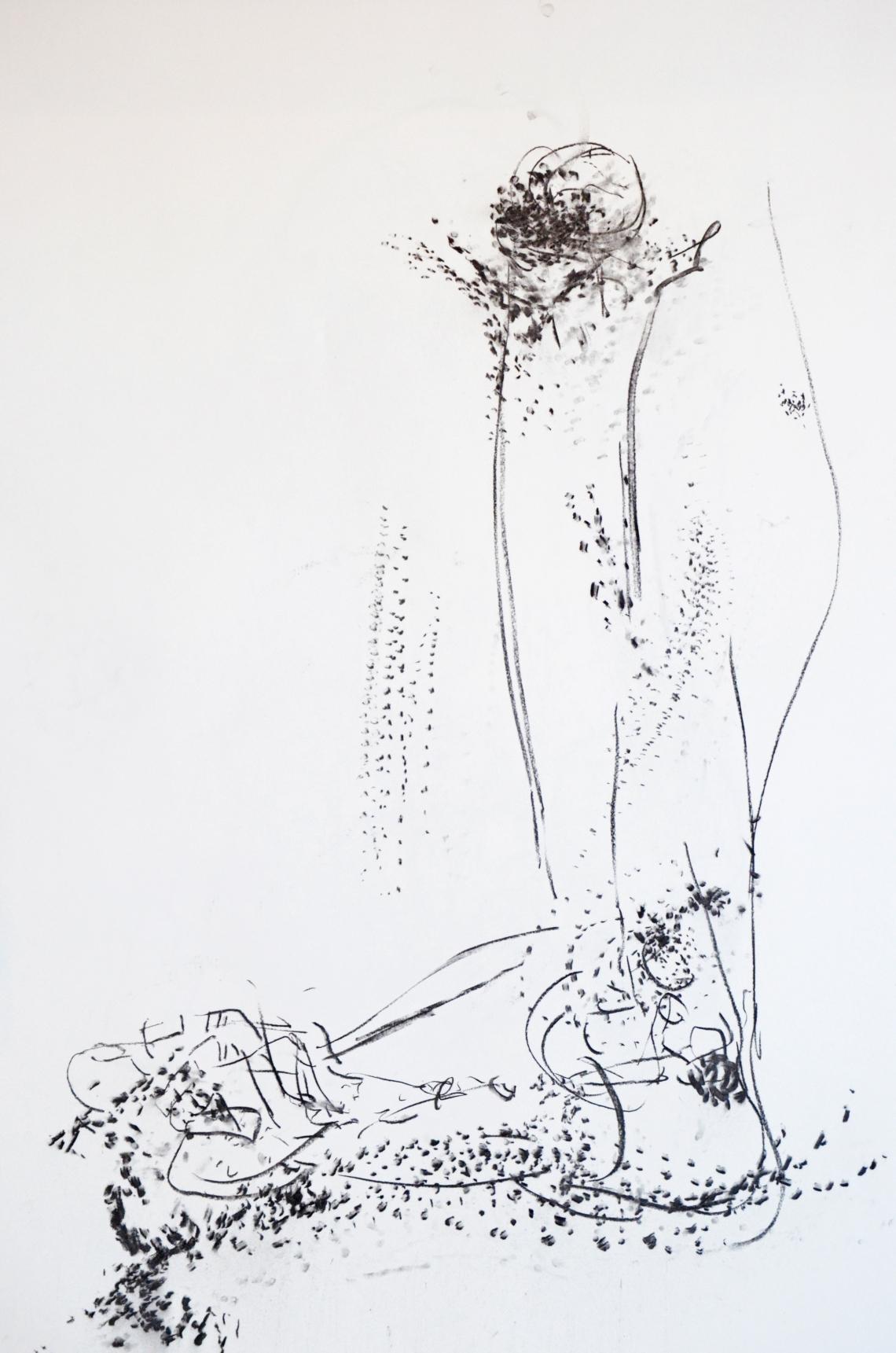 Ruudt Peters, tekening, houtskool op papier. Foto met dank aan CODA©