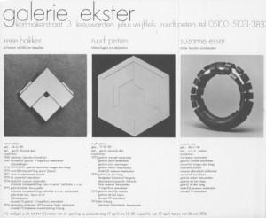 Uitnodiging Galerie Ekster, 1976. Foto met dank aan Ruudt Peters©