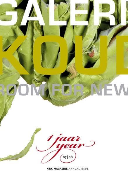 Cover Magazine Galerie Rob Koudijs 1 jaar. Foto met dank aan Galerie Rob Koudijs©
