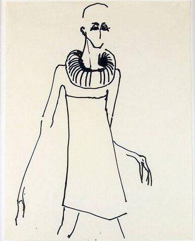 Gijs Bakker, tekening, 1967. Foto met dank aan SMS©