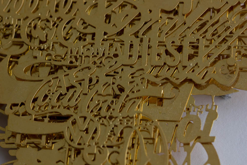 Frank Tjepkema, Branded Soul, detail hanger, 2003. Foto met dank aan M.O.©