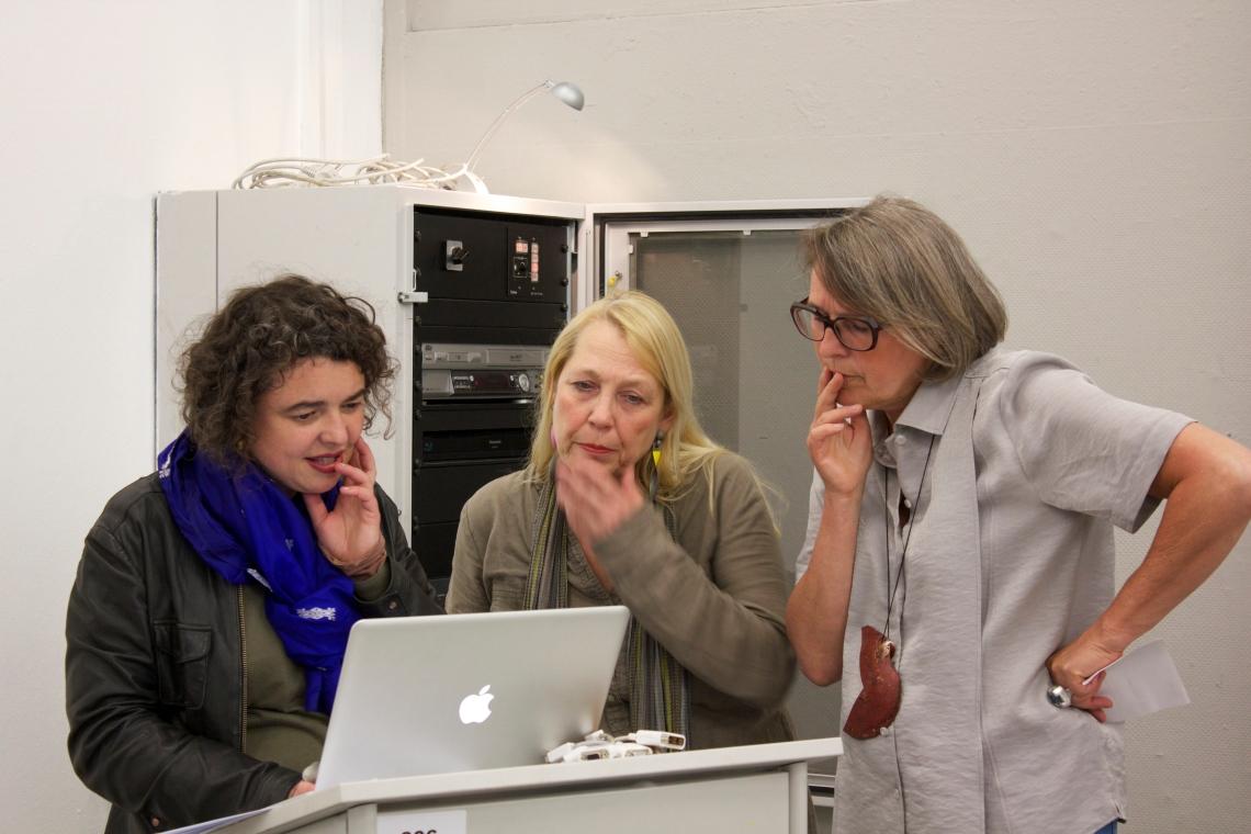 Hanagarth, Sarneel en Den Besten op de Rietveld Academie. Foto met dank aan M.O.©