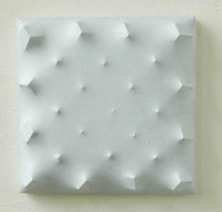 Beppe Kessler, Grey blocks, schilderij. Foto met dank aan Beppe Kessler©