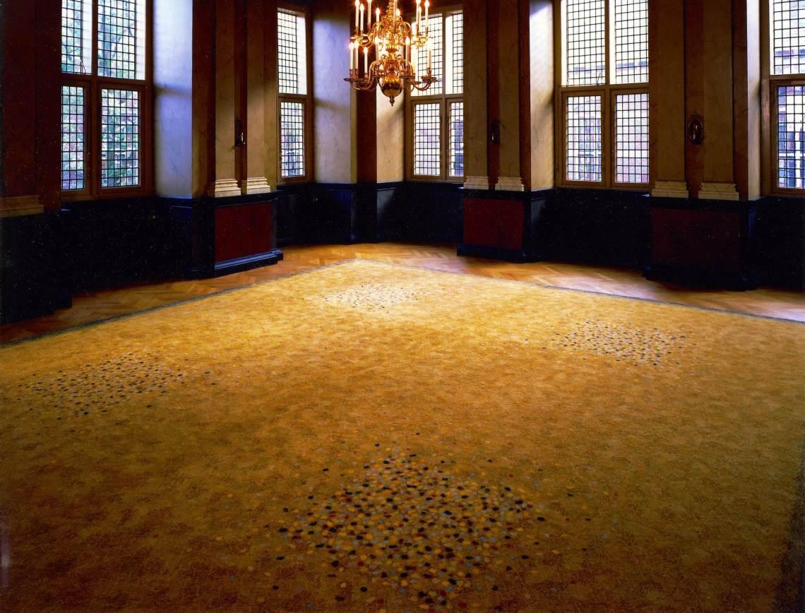 Beppe Kessler, tapijt, De Lairessezaal, Binnenhof, Den Haag. Foto met dank aan Beppe Kessler©