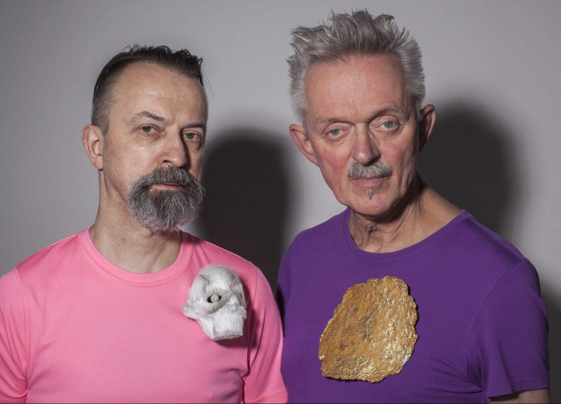 Paul Derrez met broche van Passama Mr Paul en Willem Hoogstede met broche Zon van Dobler. Foto met dank aan CODA©