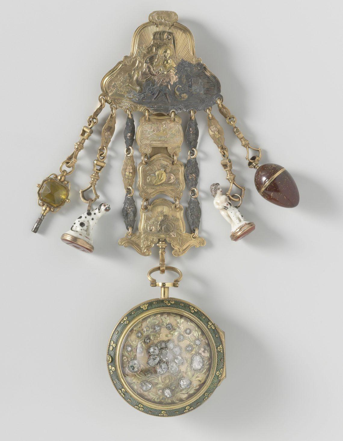 Baillon en Dequay, horloge, circa 1755. Collectie Rijksmuseum, BK-NM-11238, publiek pomein