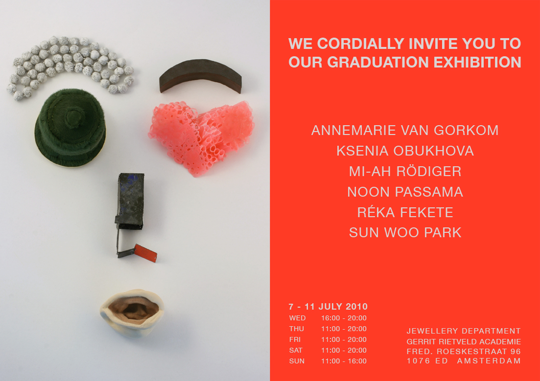 Graduation Show Gerrit Rietveld Academie, 2010. Foto met dank aan Réka Fekete©