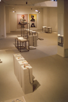 Mecky van den Brink in Galerie Marzee, 1994. Foto met dank aan Mecky van den Brink©