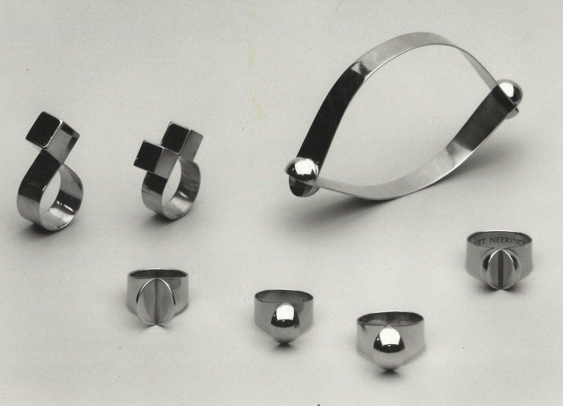 Riet Neerincx, ringen en armband, 1967-1968. Foto met dank aan Clara de Goede©