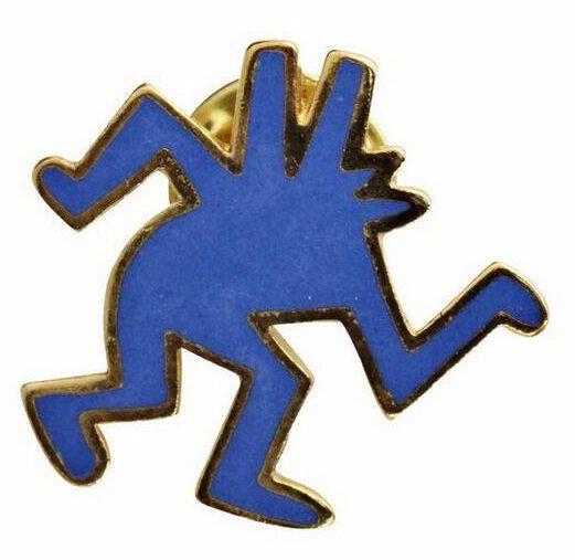 Keith Haring, pin, 1985. Foto met dank aan SMS©
