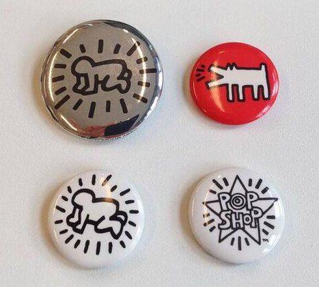 Keith Haring, buttons, 1980-1989. Foto met dank aan SMS©
