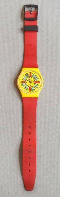 Keith Haring en Swatch, horloge, 1985. Foto met dank aan SMS©