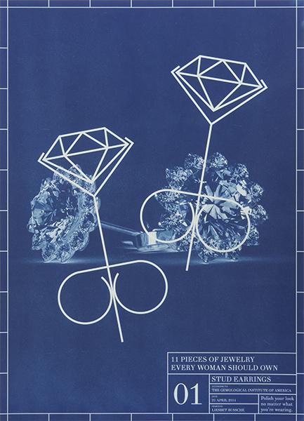 Liesbet Bussche, Blueprint of an Entire Jewelry Collection in 11 Pieces, 1, 2014. Foto met dank aan Liesbet Bussche©