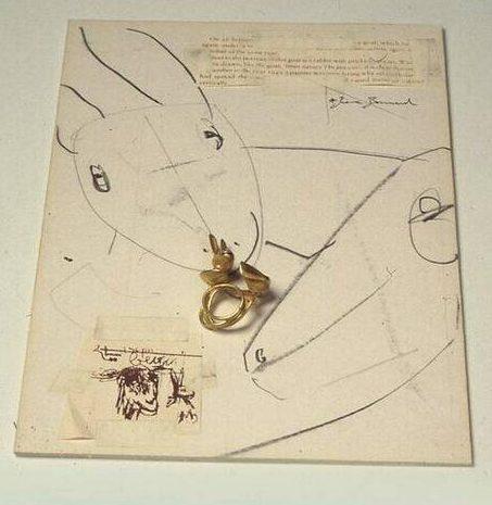 Manfred Bischoff, R. Descartes, ring en tekening, 1993. Foto met dank aan SMS©