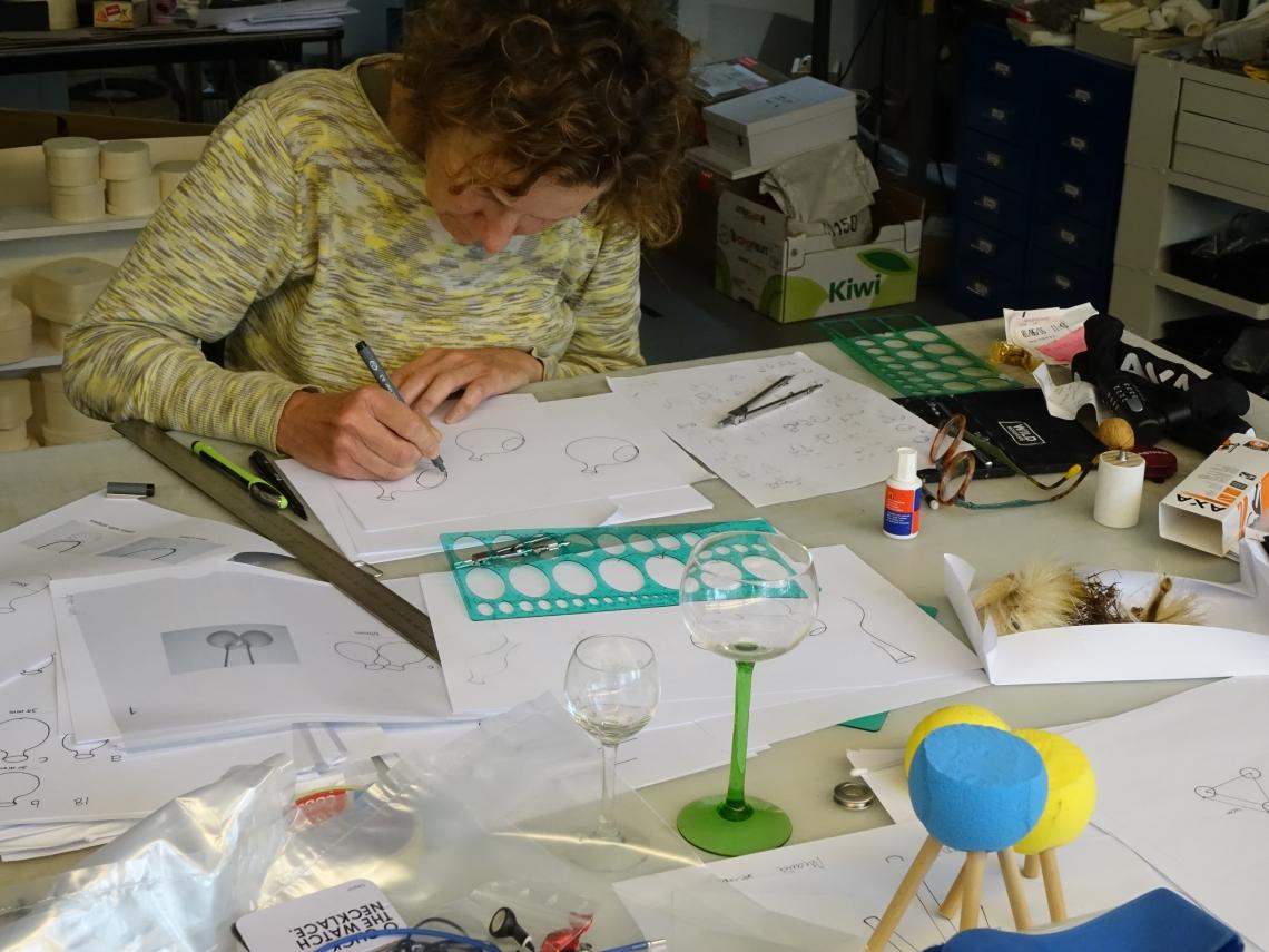 Maria Hees in haar atelier, 2016. Foto met dank aan Maria Hees©