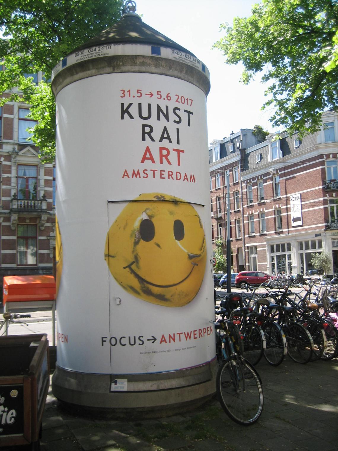 Alexander Blank, broche op affiche KunstRAI 2017, Amsterdam. Foto Esther Doornbusch©