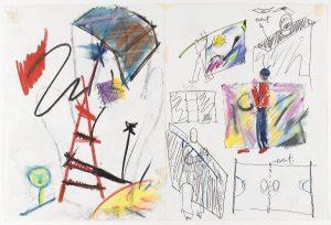 Pierre Degen, tekening, 1984. Foto met dank aan Stichting Françoise van den Bosch©
