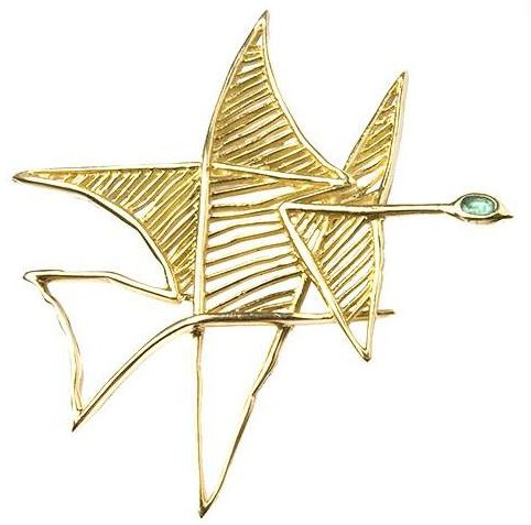 Georges Braque, Asteria, broche, 1963. Courtesy of Louisa Guinness Gallery, Keystone-France/Gamma-Keystone via Getty©