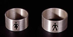 Susanne Klemm, He and she, ringen. Foto met dank aan Susanne Klemm©