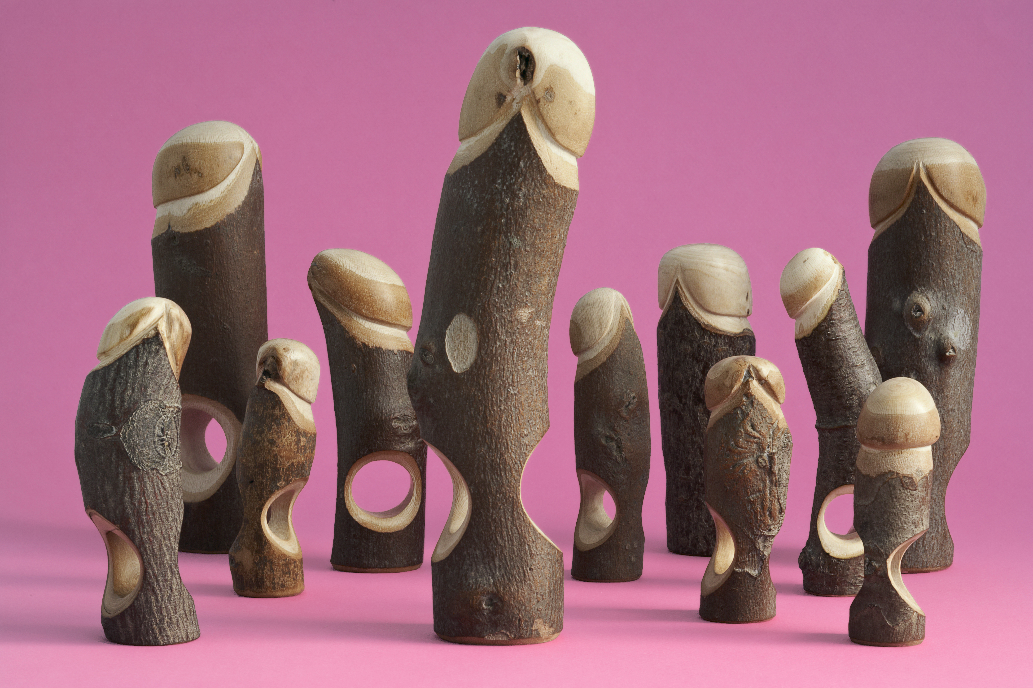 Susanne Klemm, Red Light Collectie, Wood, ringen, 2008. Foto met dank aan Susanne Klemm©