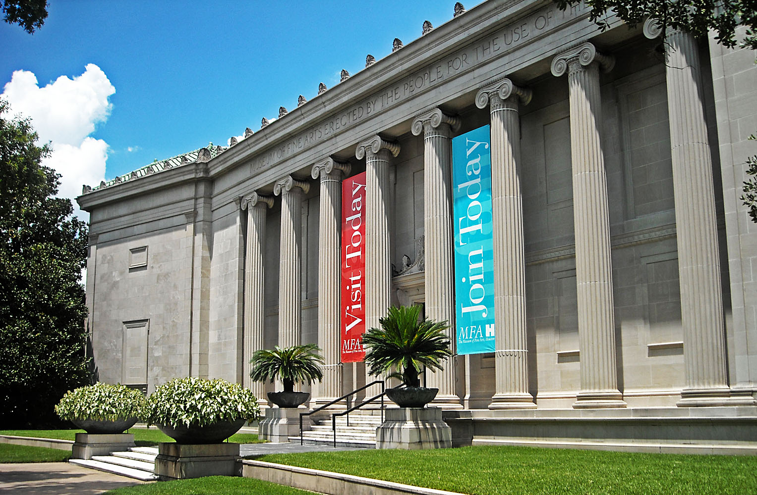 Museum of Fine Arts, Houston, Watkin Building, 2011. Foto met dank aan Hequals2henry, CC BY-SA 3.0