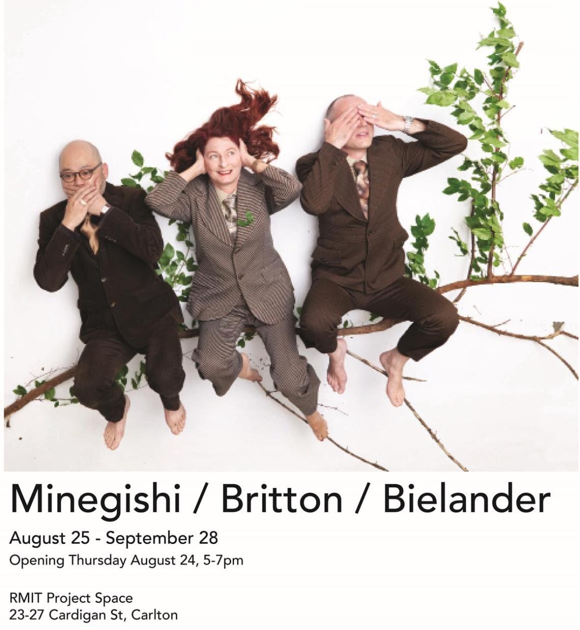 Uitnodiging Minegishi / Britton / Bielander, RMIT Project Space in samenwerking met Gallery Funaki. Foto met dank aan Gallery Funaki©