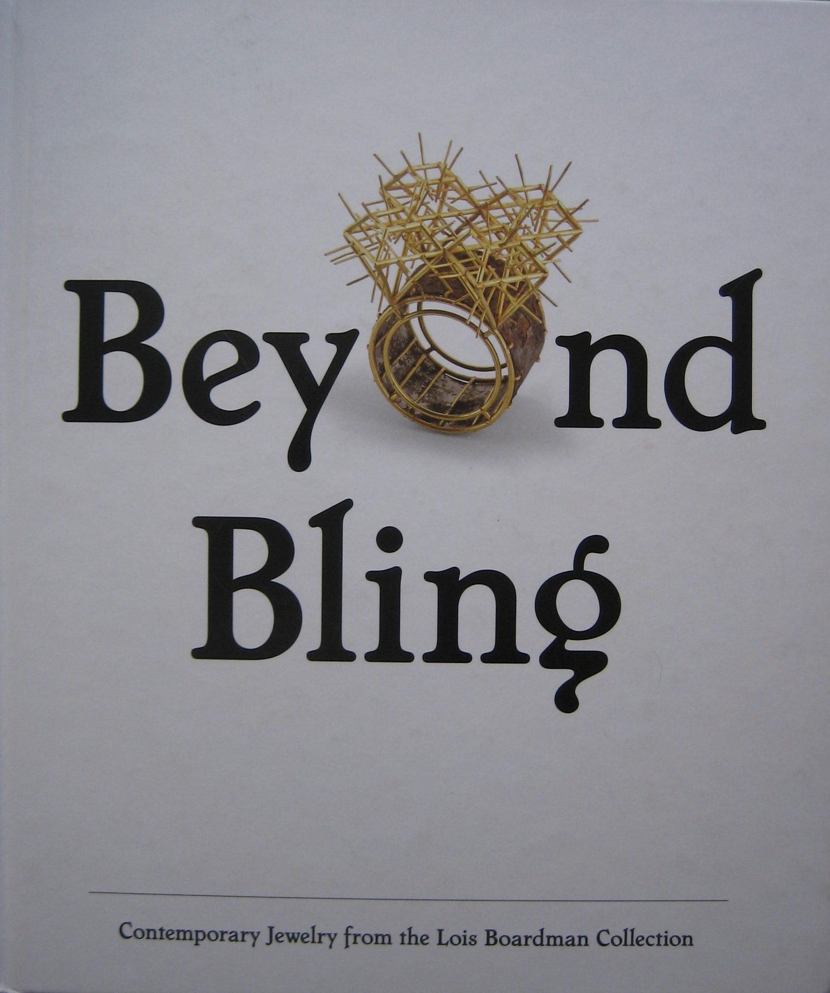 Beyond Bling, boekomslag,2016.
