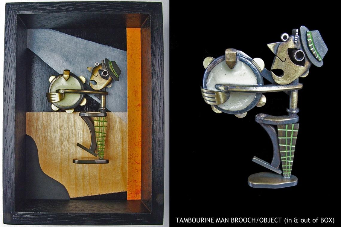 Lisa & Scott Cylinder, Tambourine Man, broche. Foto met dank aan Lisa & Scott Cylinder©