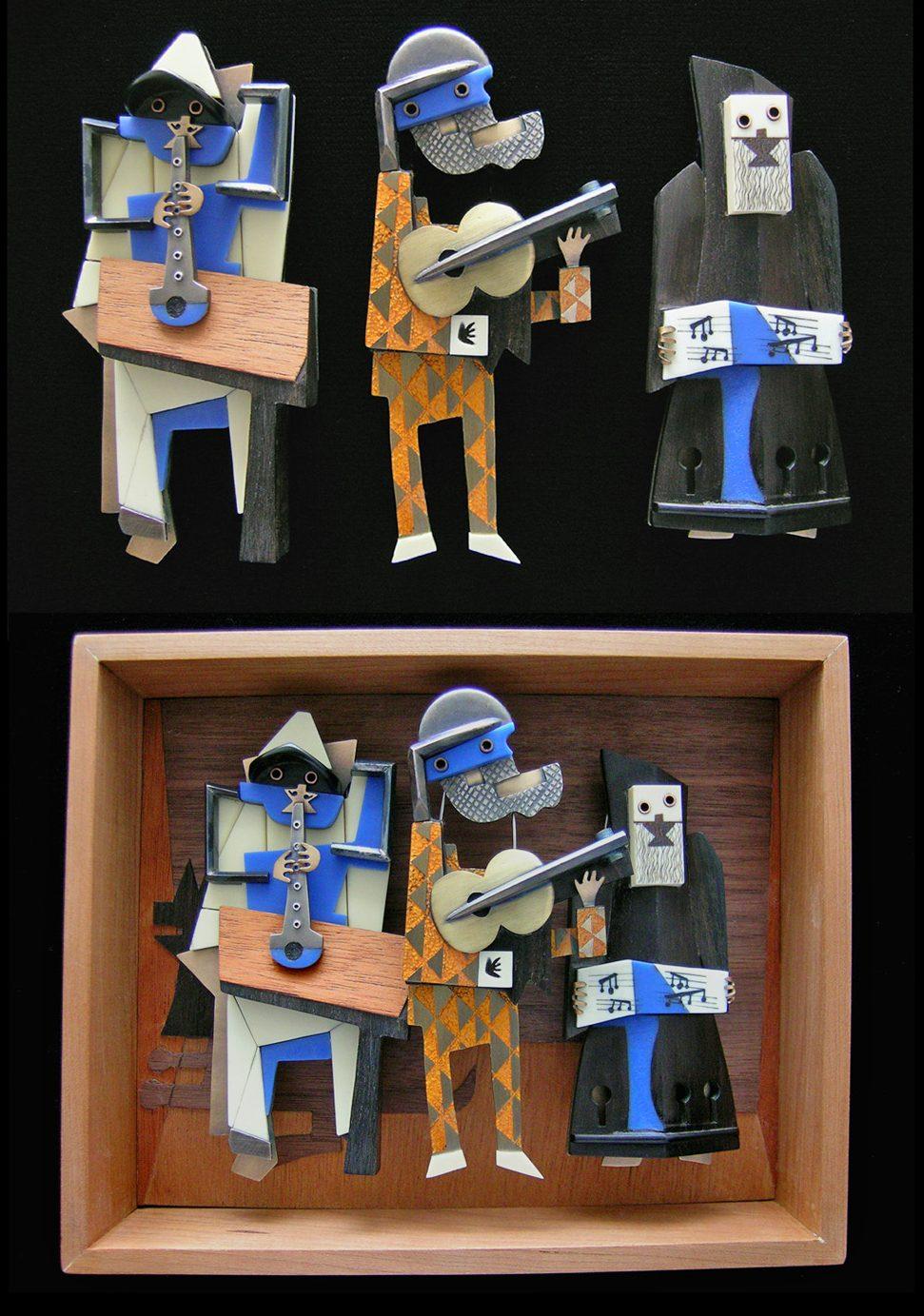 Lisa & Scott Cylinder, Trio Box, broches, 2011. Foto met dank aan Lisa & Scott Cylinder©