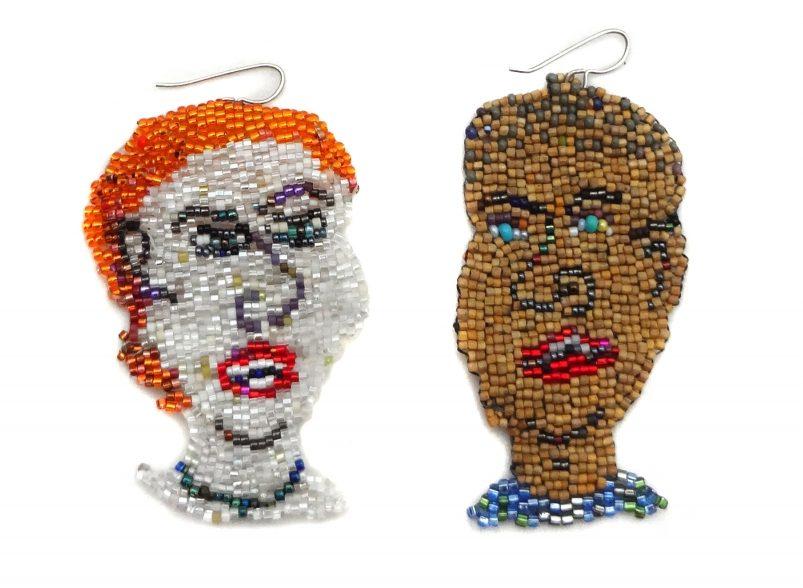 Joyce J. Scott, oorsieraden. Courtesy Mobilia Gallery©