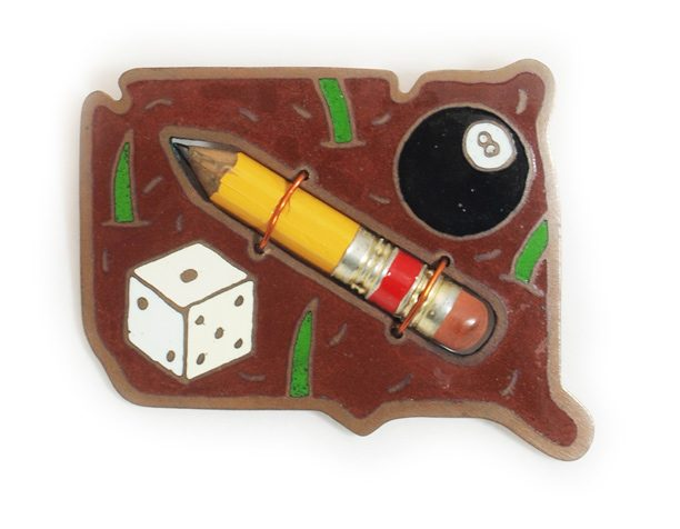 Ken Cory, Pencil Brothers Brooch, broche, 1975. Courtesy Mobilia Gallery©