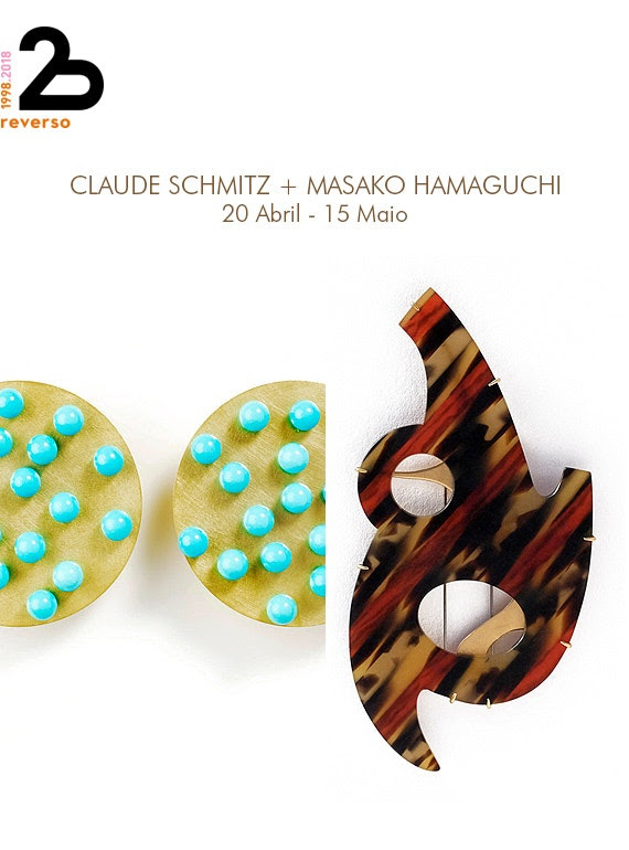 Uitnodiging Galeria Reverso, 2018. Claude Schmitz & Masako Hamaguchi. Foto met dank aan Galeria Reverso©