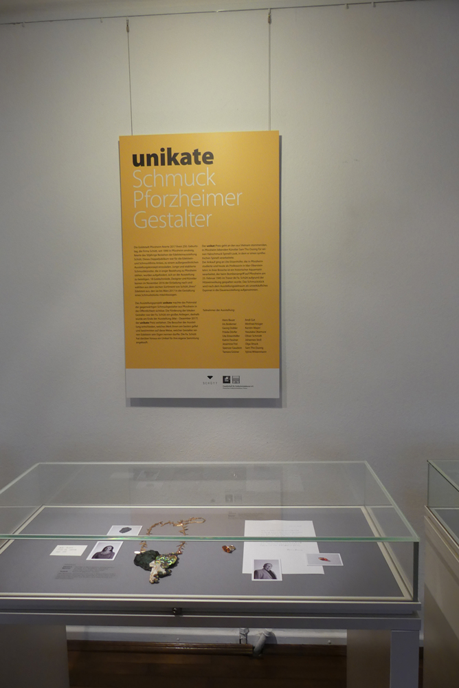 Unikate in het Deutsches Goldschmiedehaus, Hanau, 2018. Foto met dank aan Schütt©