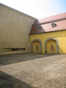 Angermuseum, Erfurt, binnenplaats. Foto Esther Doornbusch, mei 2018©