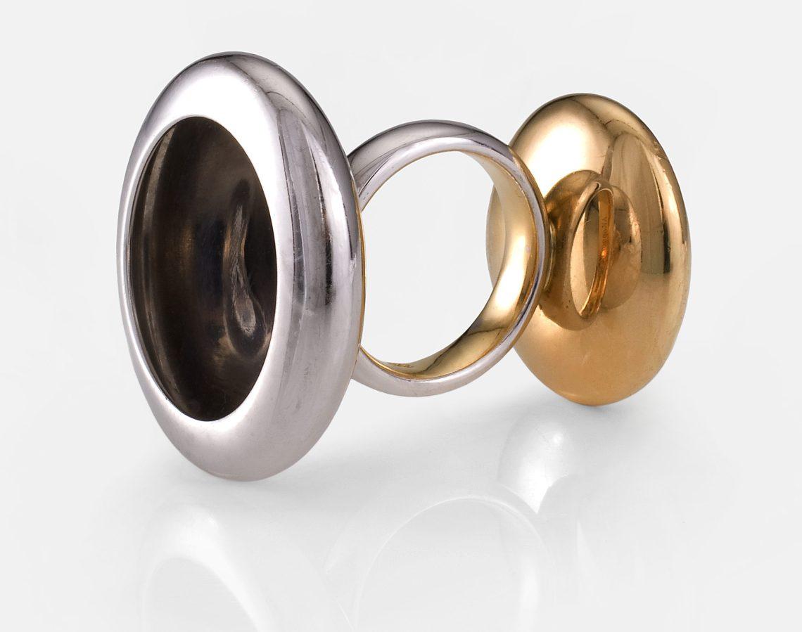 Anish Kapoor, Two Sided Ring, 2005, 1/10, Collectie Diane Venet. Foto met dank aan Musée des Arts Décoratifs Parijs©