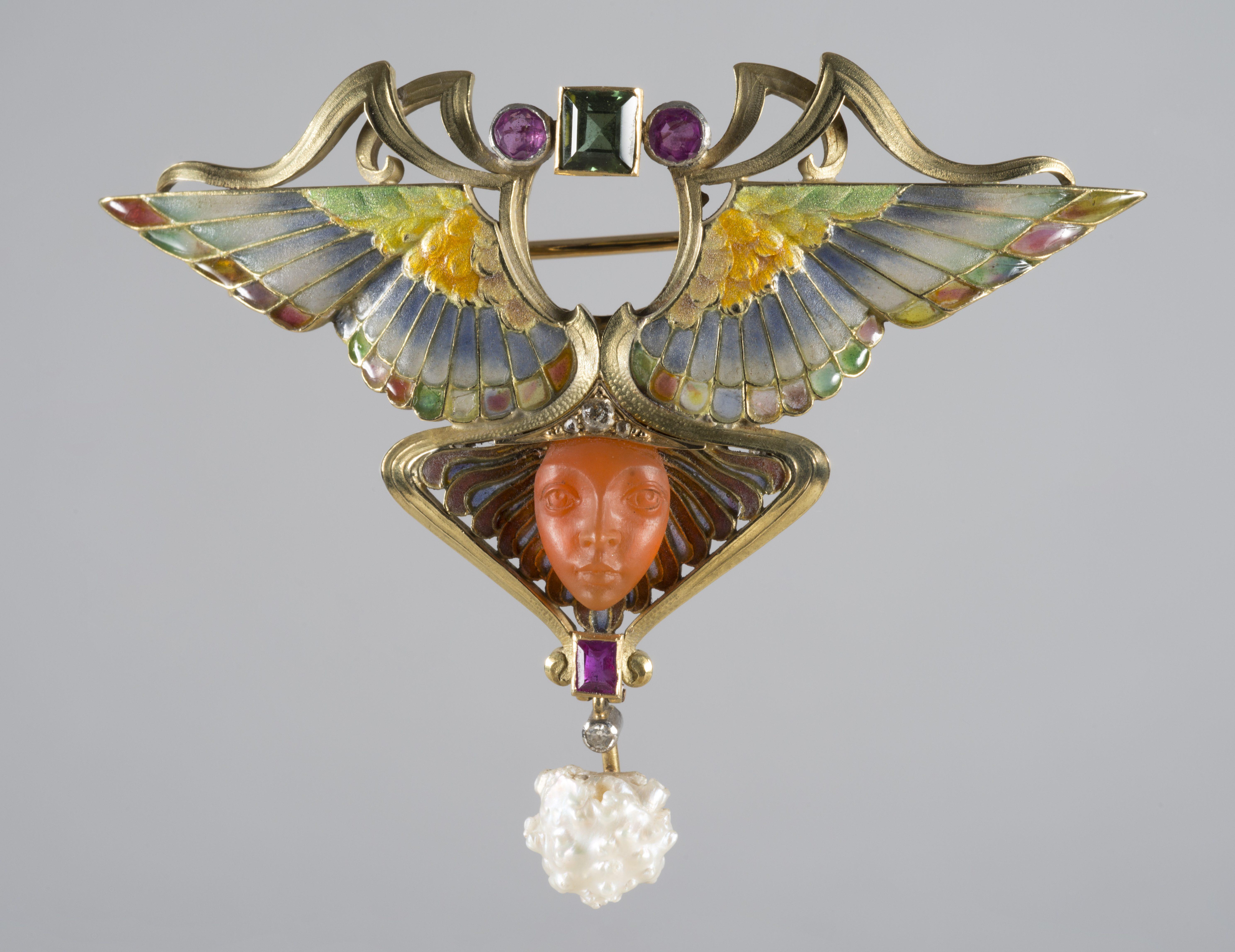 Philippe Wolfers, Nikè, broche/hanger, 1902. Collectie Koning Boudewijnstichting. Foto met dank aan Jubelparkmuseum©