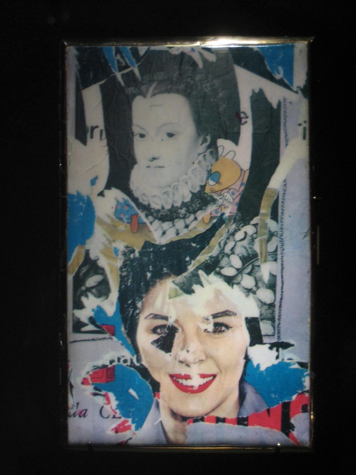 Mimmo Rotella, sigarettenhouder, 1985. Collectie Diane Venet. Foto Esther Doornbusch, juni 2018©