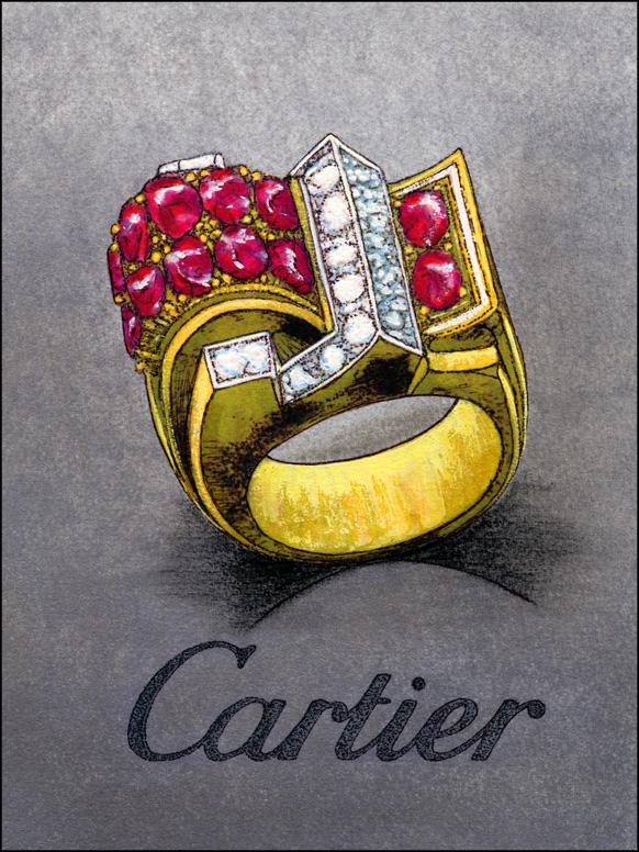 Cartier, tekening, 1969. Foto met dank aan Heikenwaelder, Wikimedia Commons, CC BY 3.0