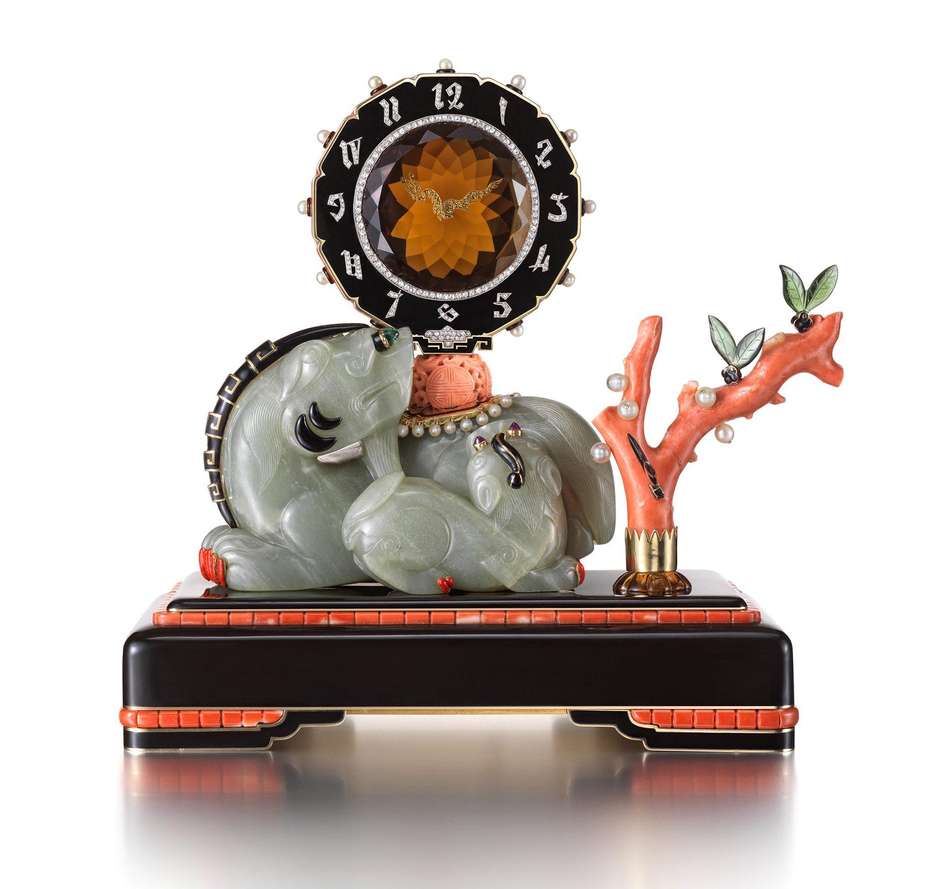 Maurice Couet voor Cartier, uurwerk, 1929. Ost trifft West, Aga Khan Collection, 2018. Foto met dank aan Schmuckmuseum Pforzheim©